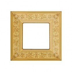 Рамка 1 пост Fede GRANADA, bright gold, FD01411OB
