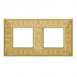 Рамка 2 поста Fede GRANADA, bright gold, FD01412OB