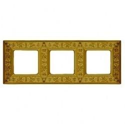 Рамка 3 поста Fede GRANADA, bright gold, FD01413OB