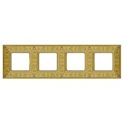 Рамка 4 поста Fede GRANADA, bright gold, FD01414OB