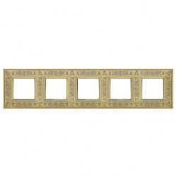 Рамка 5 постов Fede GRANADA, bright gold, FD01415OB
