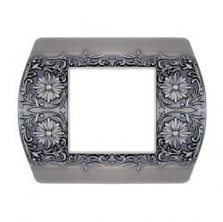 Рамка 1 пост Fede SAN REMO, горизонтальная, antique silver, FD01421AS