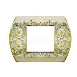 Рамка 1 пост Fede SAN REMO, горизонтальная, white decape, FD01421BD