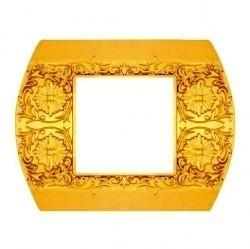 Рамка 1 пост Fede SAN REMO, горизонтальная, bright gold, FD01421OB