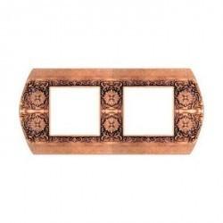 Рамка 2 поста Fede SAN REMO, горизонтальная, rustic cooper, FD01422RU