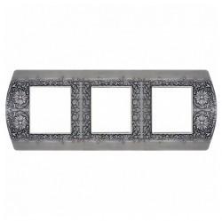 Рамка 3 поста Fede SAN REMO, горизонтальная, graphite, FD01423GR