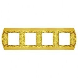Рамка 4 поста Fede SAN REMO, горизонтальная, bright gold, FD01424OB