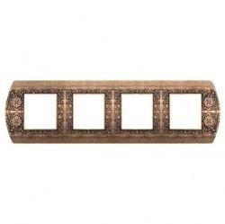 Рамка 4 поста Fede SAN REMO, горизонтальная, rustic cooper, FD01424RU