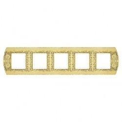 Рамка 5 постов Fede SAN REMO, горизонтальная, bright gold, FD01425OB
