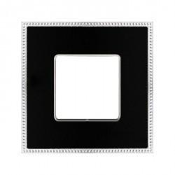 Рамка 1 пост Fede BELLE EPOQUE, черный/bright chrome, FD01431BKCB