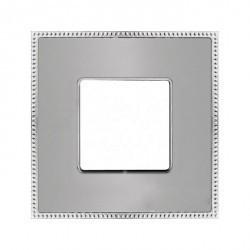 Рамка 1 пост Fede BELLE EPOQUE, matt chrome/bright chrome, FD01431CMCB