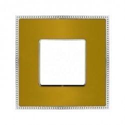 Рамка 1 пост Fede BELLE EPOQUE, matt gold/bright chrome, FD01431OMCB