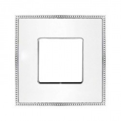 Рамка 1 пост Fede BELLE EPOQUE, белый/bright chrome, FD01431WHCB