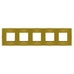Рамка 5 постов Fede BELLE EPOQUE, matt gold/bright gold, FD01435OMOB