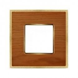 Рамка 1 пост Fede BELLE EPOQUE, cherry/bright gold, FD01451COB