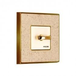 Рамка 1 пост Fede BELLE EPOQUE, auroramarble/bright gold, FD01461AMOB