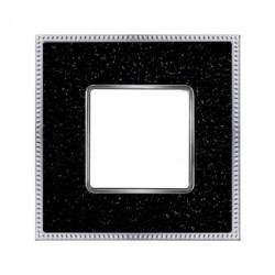 Рамка 1 пост Fede BELLE EPOQUE, blackquartz/bright chrome, FD01461BQCB