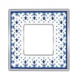 Рамка 1 пост Fede BELLE EPOQUE, blue lys/bright gold, FD01471AZOB