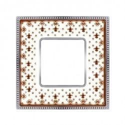 Рамка 1 пост Fede BELLE EPOQUE, brown lys/bright chrome, FD01471MACB