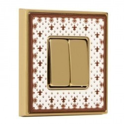 Рамка 1 пост Fede BELLE EPOQUE, brown lys/bright gold, FD01471MAOB