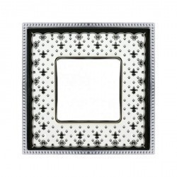 Рамка 1 пост Fede BELLE EPOQUE, black lys/bright chrome, FD01471NECB