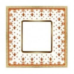 Рамка 1 пост Fede BELLE EPOQUE, красный/bright gold, FD01471RJOB