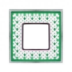 Рамка 1 пост Fede BELLE EPOQUE, зеленый/bright chrome, FD01471VECB
