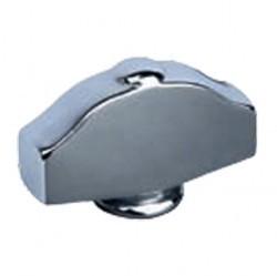 Fede Поворотная ручка овального типа с кнопкой, Bright Chrome