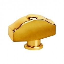 Fede Поворотная ручка типа овал фигурный, Real Gold