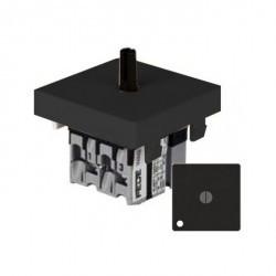 Переключатель поворотный Fede Коллекции FEDE, с подсветкой, черный, FD03121-M