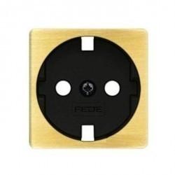 Накладка на розетку Fede коллекции FEDE, с заземлением, bright patina/черный, FD04314PB-M