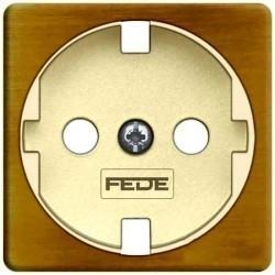 Накладка на розетку Fede коллекции FEDE, с заземлением, matt patina, FD04314PM-A