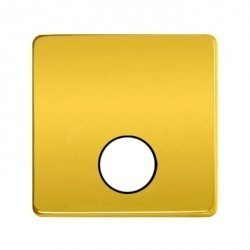 Накладка на розетку телевизионную Fede Накладки, real gold/черный, FD04315OR-M