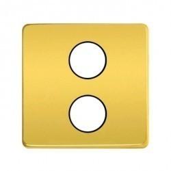 Накладка на розетку телевизионную Fede Накладки, bright gold/черный, FD04316OB-M