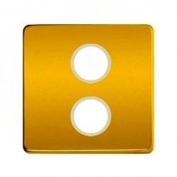 Накладка на розетку телевизионную Fede Накладки, real gold/бежевый, FD04316OR-A