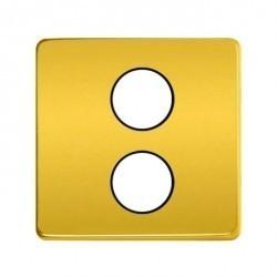 Накладка на розетку телевизионную Fede Накладки, real gold/бежевый, FD04316OR-M