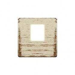 Накладка на мультимедийную розетку Fede, white decape/бежевый, FD04317BD-A