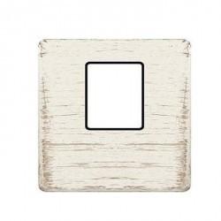 Накладка на мультимедийную розетку Fede, white decape/черный, FD04317BD-M