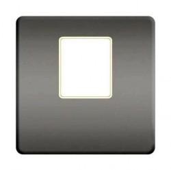 Накладка на мультимедийную розетку Fede, bright chrome/бежевый, FD04317CB-A