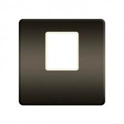 Накладка на мультимедийную розетку Fede, graphite/бежевый, FD04317GR-A