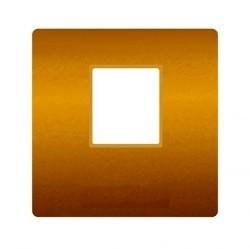 Накладка на мультимедийную розетку Fede, bright gold/бежевый, FD04317OB-A