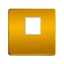 Накладка на мультимедийную розетку Fede, real gold/бежевый, FD04317OR-A