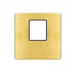 Накладка на мультимедийную розетку Fede, nickel satin/черный, FD04317PB-M