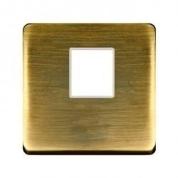 Накладка на мультимедийную розетку Fede, matt patina, FD04317PM-A