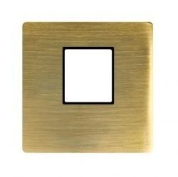 Накладка на мультимедийную розетку Fede, matt patina, FD04317PM-M