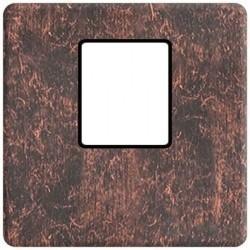 Накладка на мультимедийную розетку Fede, rustic cooper/черный, FD04317RU-M