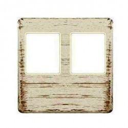 Накладка на мультимедийную розетку Fede, white decape/бежевый, FD04318BD-A