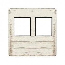 Накладка на мультимедийную розетку Fede, white decape/черный, FD04318BD-M