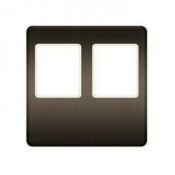 Накладка на мультимедийную розетку Fede, graphite/бежевый, FD04318GR-A