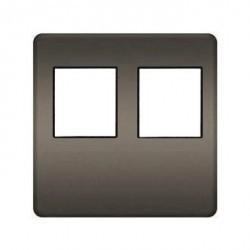 Накладка на мультимедийную розетку Fede, graphite/черный, FD04318GR-M